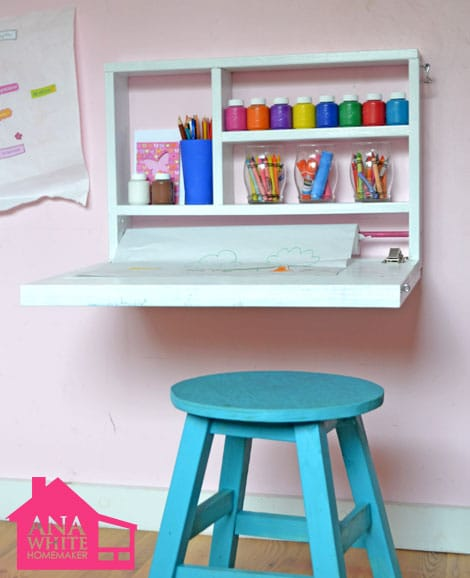 fold down desk with storage